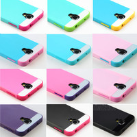 New Hybrid Impact Hard Case Cover for Samsung Galaxy S IV S4 i9500 Screen Film
