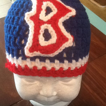 Boston red sox baby hat, red sox baby beanie, crochet red sox baby beanie, baby hat baseball