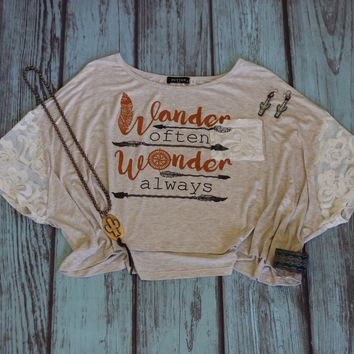 Wander Often - Cropped Tee