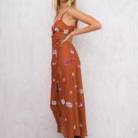 Sweet Beginnings Maxi Wrap Dress
