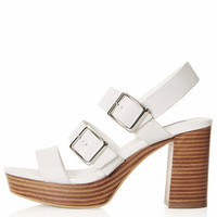 LAWLESS Buckle Sandals - White