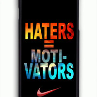 Nike Haters Motivation Nebula Galaxy For iPhone 6/6S Case **