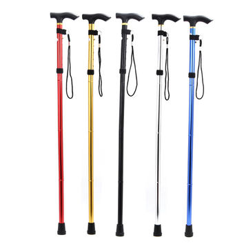 new sale outdoor sports camping hiking pole walking telescopic stick cane trekking ski poles climbing mountaineering crutch