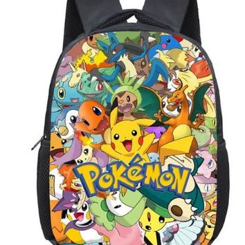 12 Inch Pokemon Pikachu Haunter Eevee Monster Kindergarten School Bags Bookbags Children Baby Toddler bag Kids Backpack Gift