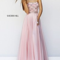 Scalloped Embellished Gown by Sherri Hill