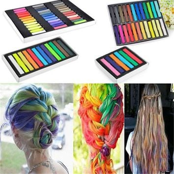 1 Set  Chalk Worldwide Hair Dyeing Hair Color Chalk Crayon  Hair Pins Personalized DIY Hair Beauty Style Tools
