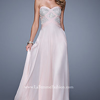 Long Strapless Sweetheart Dress by La Femme