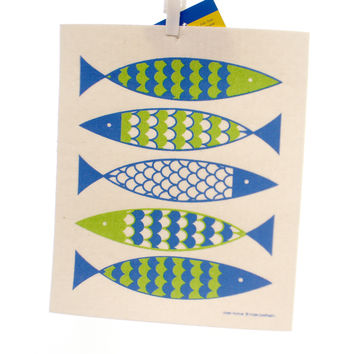 Swedish Dish Cloth FISH ALL NATURAL TOWEL Fabric Premier Cloth Kitchen 21881