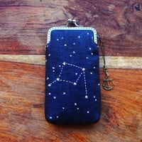 Personality iPhone Case Embroidery constellation ( iPhone 5, Samsung Galaxy S4 Size available)