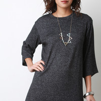 Soft Knit Wide Sleeve Shift Dress