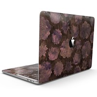 Brown Floral Succulents - MacBook Pro with Touch Bar Skin Kit