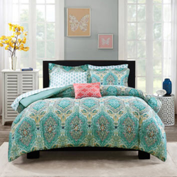 Walmart: Mainstays Bed-In-A-Bag Monique Paisley Bedding Set