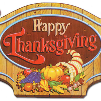 """happy thanksgiving sign 12.25"""" x 18"""" Case of 12"""