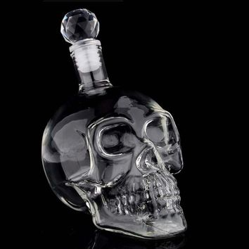 Crystal Skull Head Vodka Whiskey Shot Wine Glass Bottle Drinking for Home Bar