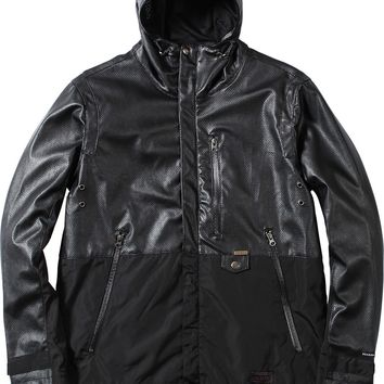 Perforated Leather Tech Jacket - Blk/Blk