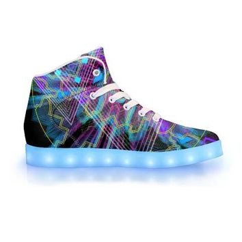 Vegitislista by Sam and Cate Farrand - APP Controlled High Top LED Shoe