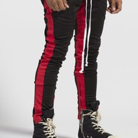 Jenner Track Pants (Black/Red) – Lifted Anchors