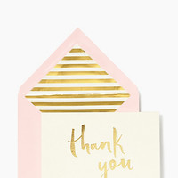 Kate Spade Paint Brush Thank You Card Set Pink Gold ONE
