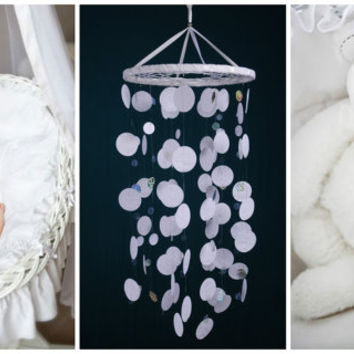 White Baby Mobile handmade exclusive Dreamcatcher bedroom Baby Mobiles bedding DreamCatcher Dreamcatchers Christmas present white balance