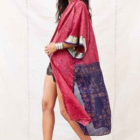 Urban Renewal Pieced Sari Kimono Jacket- Assorted