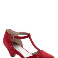 BC Shoes Just Prance Heel in Cherry | Mod Retro Vintage Heels | ModCloth.com