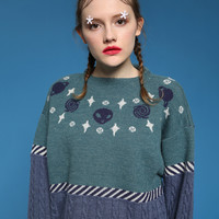 Tyakasha Cosmo Express Alien Sweater