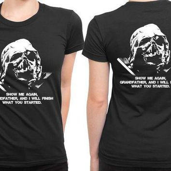 ESBH9S Star Wars The Force Awakens Show Me Again Grandfather 2 Sided Womens T Shirt