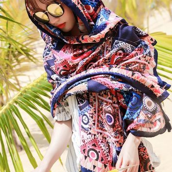 Indian Hippie Scarves Cotton Retro Geo Bohemian Shawls