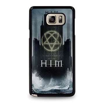 HIM BAND HEARTAGRAM Samsung Galaxy Note 5 Case Cover