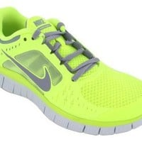 Nike Free Run+3 Womens Running Shoes 510643-702 Volt 9 M US