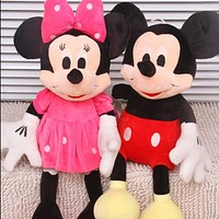 ONE Piece 28CM-30CM Mini Lovely Mickey Mouse And Minnie Mouse Stuffed Soft Plush Toys