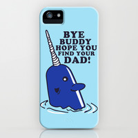 Mr Narwhal iPhone & iPod Case by LookHUMAN