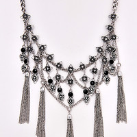 Fringe Necklace: Antique Silver