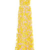 Floral Beaded Gown by Naeem Khan - Moda Operandi
