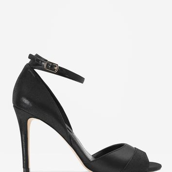 White House | Black Market Satin and Suede Two-Piece Heels
