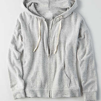 AEO Soft & Sexy Plush Hoodie , Light Heather