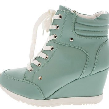 ADRIANA11 LIGHT MINT SNEAKER WEDGE BOOT 41841f57f