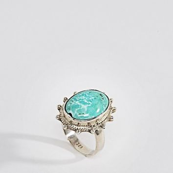 Rock N Rose Sterling Silver Trude Turquoise Ring at asos.com