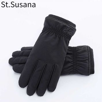 St.Susana Winter Gloves New Arrival Winter Warm Gloves Male Fashion Plush Lining Touch Screen Riding Mittens 1123858