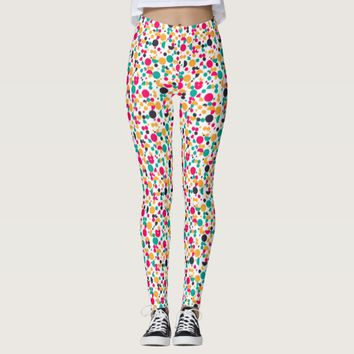 Colorful geometric pattern design leggings