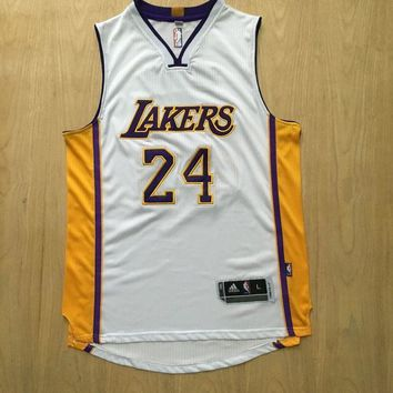 KUYOU Los Angeles Lakers Kobe Bryant White 100% Authentic Jersey