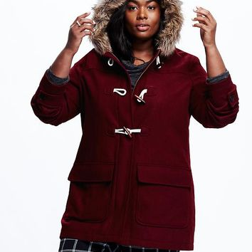 Old Navy Womens Hooded Toggle Coat
