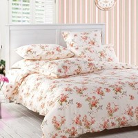 DIAIDI Home Textile,Vintage Floral Bedding Set,Queen Size Floral Bedding,Rustic Bedding,4Pcs