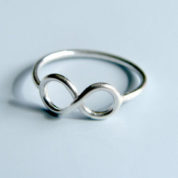 Infinity Symbol Ring Sterling Silver Infinity by LuttrellStudio