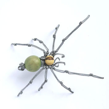 spider wire decoration // gift // car // halloween // for him // toy // wire sculpture // wire // scary // handmade // eco toy // key chain