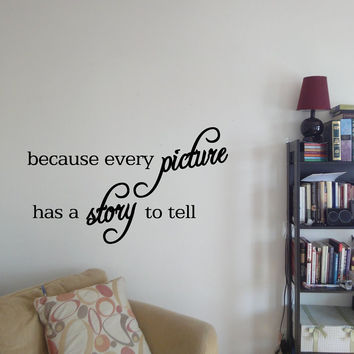 Every Picture Tells A Story Quote Wall Decor
