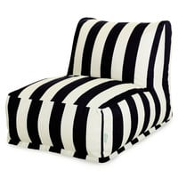 Black Vertical Stripe Bean Bag Chair Lounger