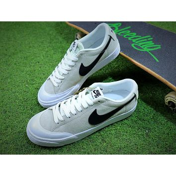 New Nike Blazer Sb Grey Black White Plate Shoes - Sale