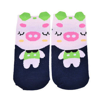 cartoon Pig socks animal comfortable cotton socks women lovely style soks HU