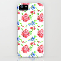 Summer Flowers iPhone Case by Wendy Ding: Illustration | Society6